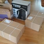 Viele Kartons...